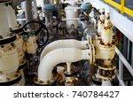 pressure safety valve install...   Shutterstock . vector #740784427