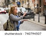 augmented reality in marketing. ... | Shutterstock . vector #740794507