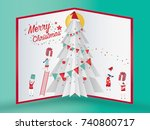 christmas card concept and... | Shutterstock .eps vector #740800717
