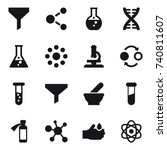 16 vector icon set   funnel ... | Shutterstock .eps vector #740811607