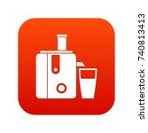 juicer icon digital red for any ... | Shutterstock .eps vector #740813413