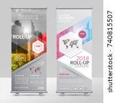 business roll up design... | Shutterstock .eps vector #740815507