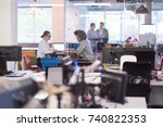 startup business people using... | Shutterstock . vector #740822353