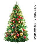 beautiful christmas tree... | Shutterstock . vector #740826577