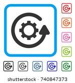 gearwheel rotation direction...   Shutterstock .eps vector #740847373
