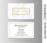 luxury business cards vector... | Shutterstock .eps vector #740849413