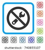 forbidden repair icon. flat...