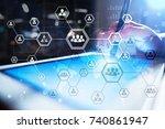 organisation structure chart ... | Shutterstock . vector #740861947