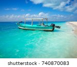 isla mujeres island caribbean... | Shutterstock . vector #740870083