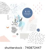 creative sale header or banner... | Shutterstock .eps vector #740872447