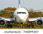 yeadon leeds england uk october ... | Shutterstock . vector #740899207