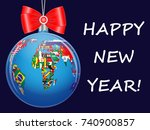 christmas ball with a political ... | Shutterstock .eps vector #740900857