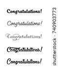 congratulations card.... | Shutterstock .eps vector #740903773