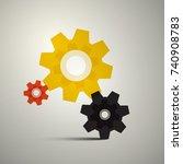 cogs  gears. vector cog icon.... | Shutterstock .eps vector #740908783