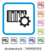 bar code settings icon. flat... | Shutterstock .eps vector #740909293