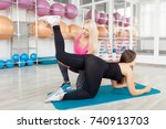 shot of a female fitness... | Shutterstock . vector #740913703