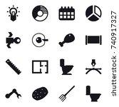 16 vector icon set   bulb ...