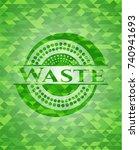 waste green emblem. mosaic... | Shutterstock .eps vector #740941693