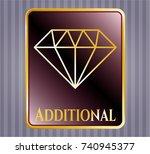 golden emblem with diamond