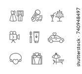 wedding vector icon set | Shutterstock .eps vector #740948497