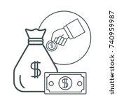 money certificate of deposit | Shutterstock .eps vector #740959987
