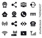 16 vector icon set   notebook... | Shutterstock .eps vector #740960437
