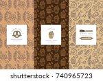 vector set of design templates...   Shutterstock .eps vector #740965723