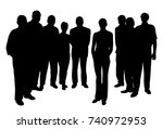 young woman standing in front... | Shutterstock .eps vector #740972953