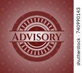 advisory retro red emblem | Shutterstock .eps vector #740990143