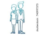teachers teamwork couple | Shutterstock .eps vector #740997373