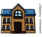 school building isolated   Shutterstock .eps vector #741000817