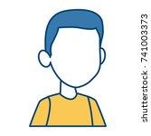 boy faceless cartoon | Shutterstock .eps vector #741003373