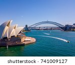 aerial view on the sydney... | Shutterstock . vector #741009127