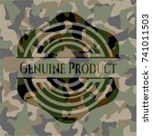 genuine product on camouflaged... | Shutterstock .eps vector #741011503
