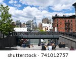 clouds cover the people at 10th ... | Shutterstock . vector #741012757