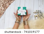 Female Hands With Jewelry And...