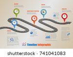 business road map timeline... | Shutterstock .eps vector #741041083