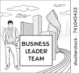 businessman  trendy young man...   Shutterstock .eps vector #741045433