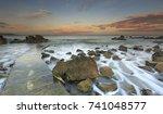 sea coast sea rocks beatiful...   Shutterstock . vector #741048577