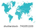 color world map | Shutterstock .eps vector #741051103