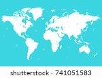 world map | Shutterstock .eps vector #741051583