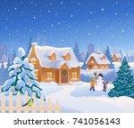vector cartoon drawing of... | Shutterstock .eps vector #741056143