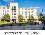 los angeles  ca  october 20 ... | Shutterstock . vector #741060493