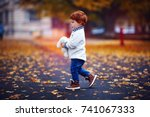 cute redhead toddler baby boy... | Shutterstock . vector #741067333