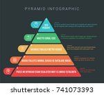 colorful hierarchy pyramid... | Shutterstock .eps vector #741073393