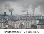 grey and dirty residential...   Shutterstock . vector #741087877