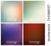 abstract creative concept... | Shutterstock .eps vector #741088537