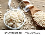 barley cooked with seeds   Shutterstock . vector #741089137