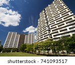 High Rise Apartment Street Of...
