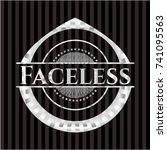 faceless silver emblem or badge | Shutterstock .eps vector #741095563